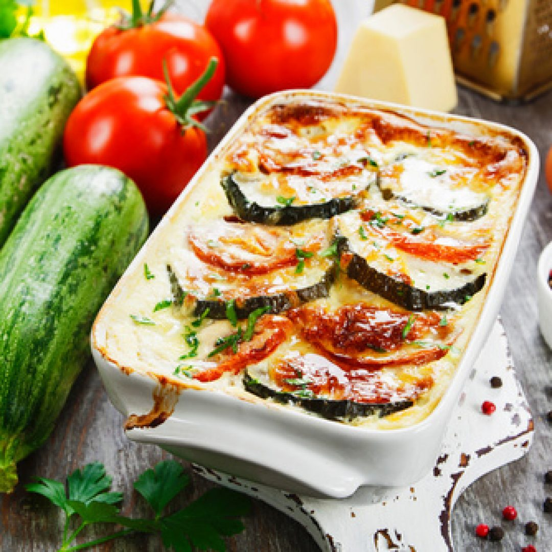 Vegetable casserole with meat