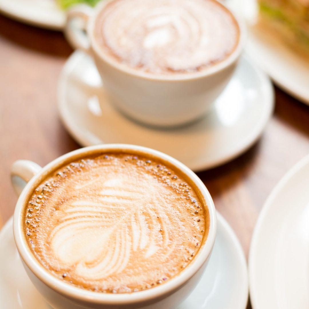 Tea time with coffee